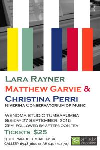 piano concert 27 sept 2015 ticket