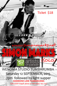 simon marks concert 12 sept 2015 ticket